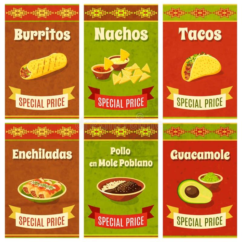 Mexicaanse Voedselaffiche stock illustratie