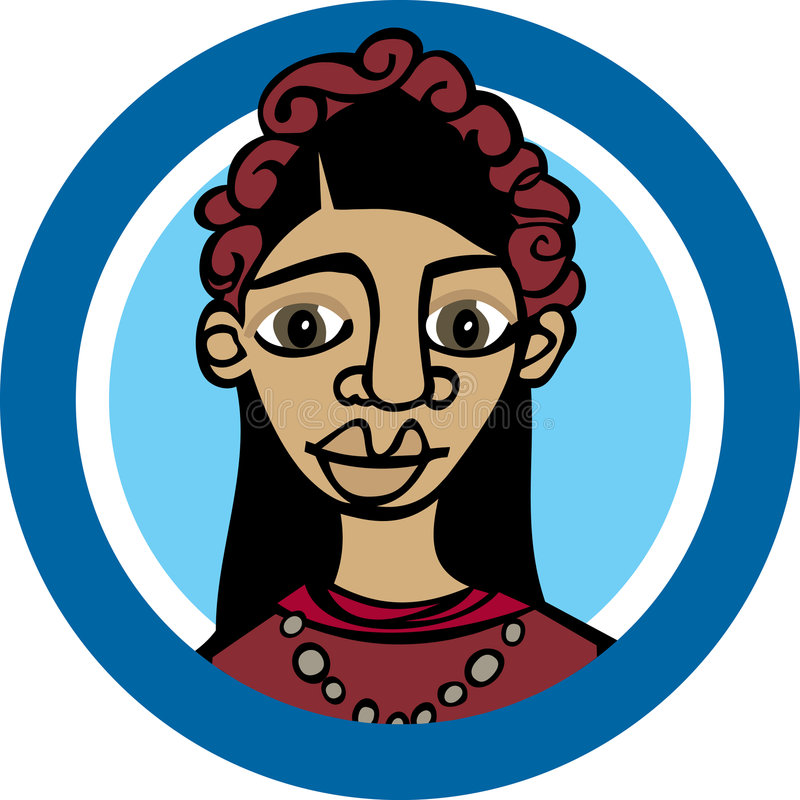 Mexicaanse woman_Frida royalty-vrije illustratie