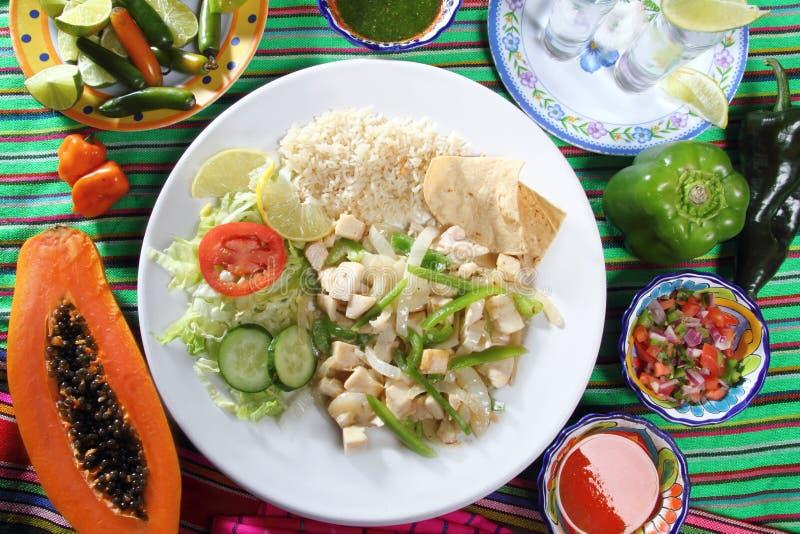 Mexicain de sauce à ail de mojo de ajo de poulet photographie stock libre de droits
