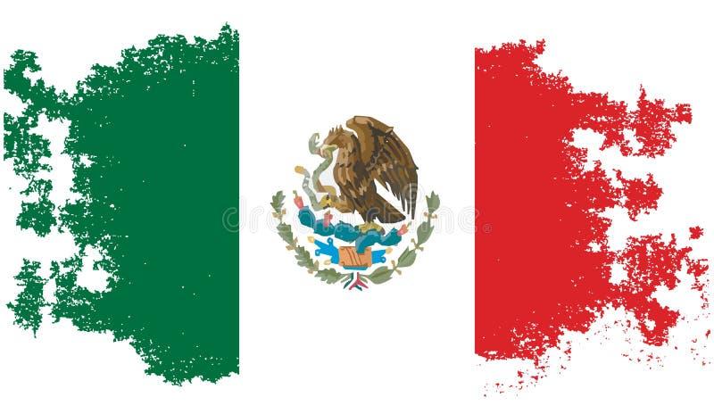 Drapeau mexicain grunge illustration stock