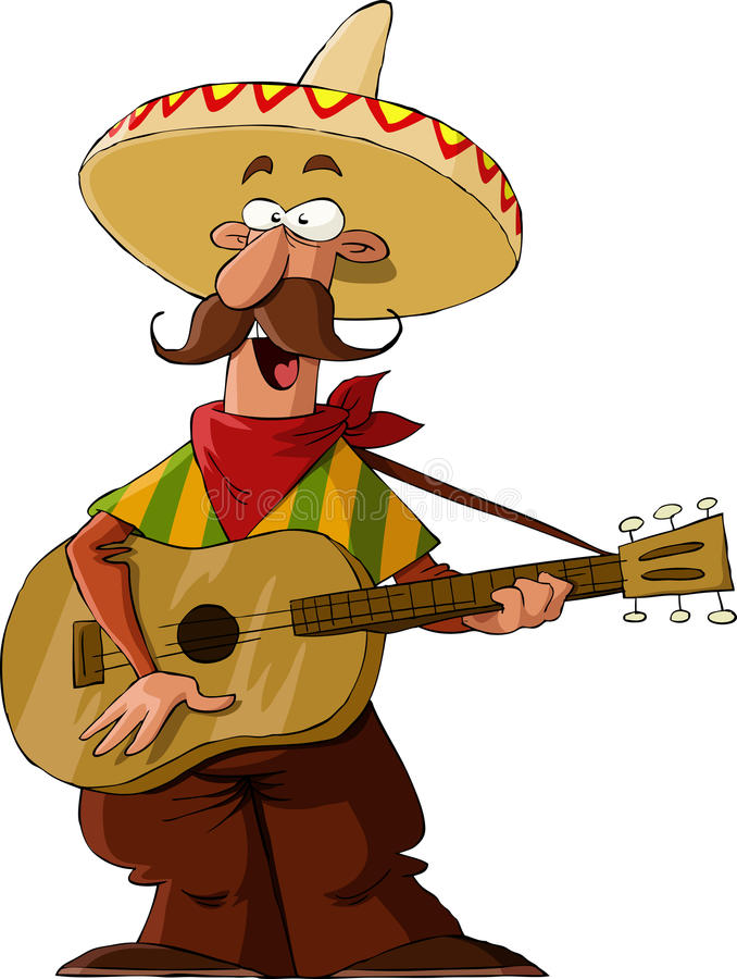 Mexican. On a white background, vector