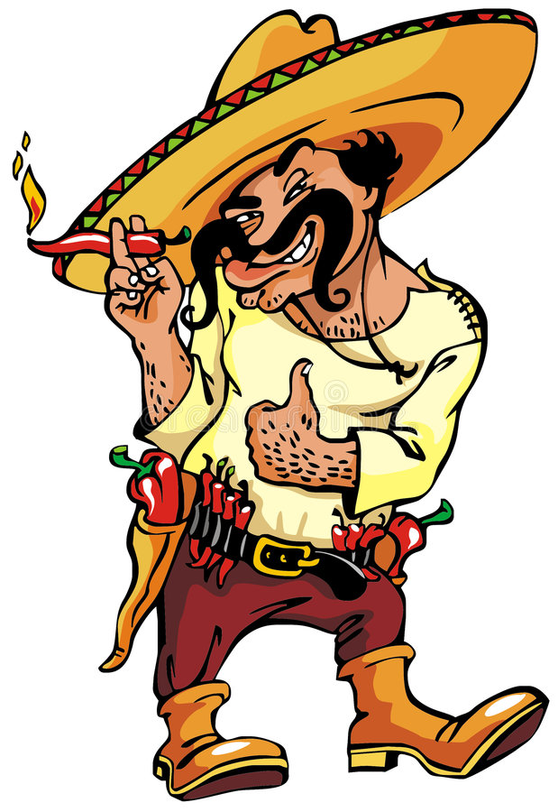 Download Mexican stock illustration. Image of spicy, mustache, pepper - 6736547