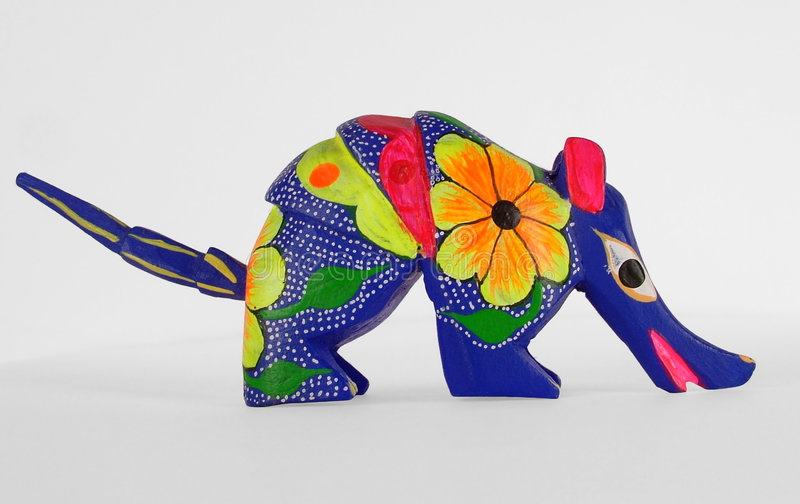 Mexican Alebrije. An alebrije is a popular mexican folk art sculpture of imaginary animals stock illustration