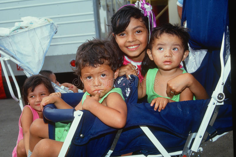 Mexican American children stock image