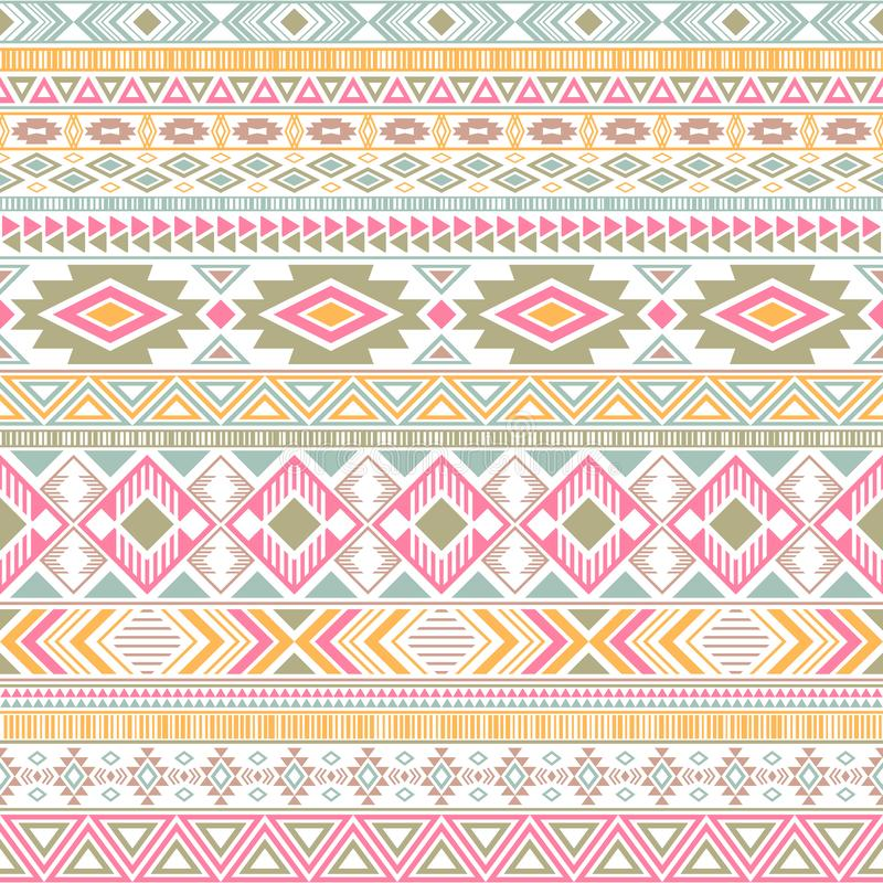 Mexican american indian pattern tribal ethnic motifs geometric vector background. stock illustration