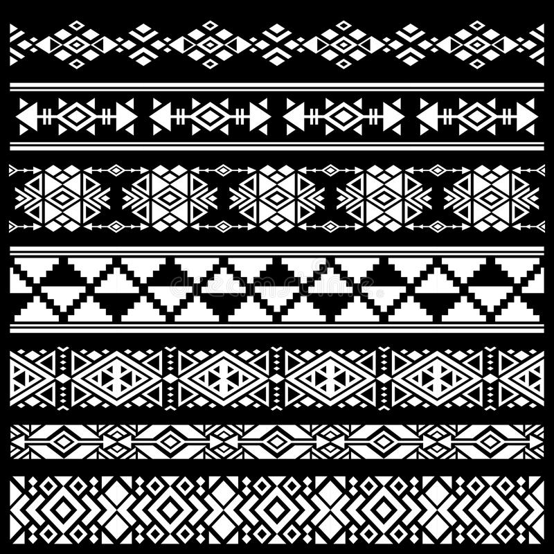 Download mexican american tribal art decor vector brushes borders stock vector illustration of