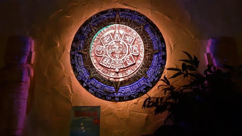 Mexican ancient Mayan calendar Art royalty free stock photos