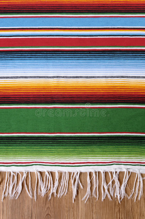 Free Mexican Background Serape Blanket Copy Space Vertical Stock Photography - 50629712