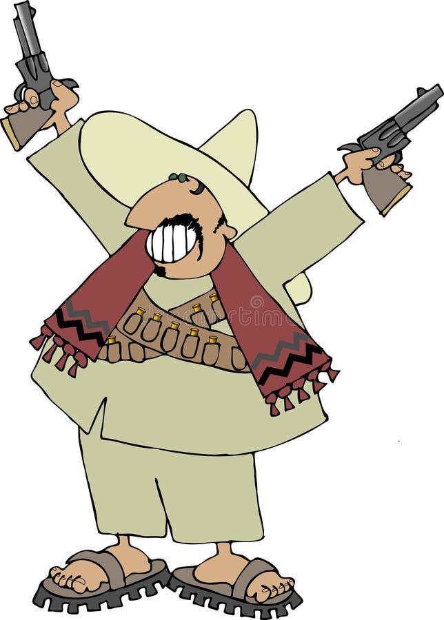 Mexican bandito royalty free illustration