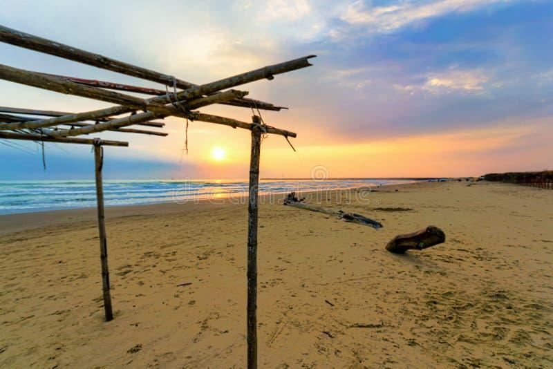 Mexican Beach Scene. A rustic Mexican beach scene near Tuxpan, Veracruz in Mexico royalty free stock photography