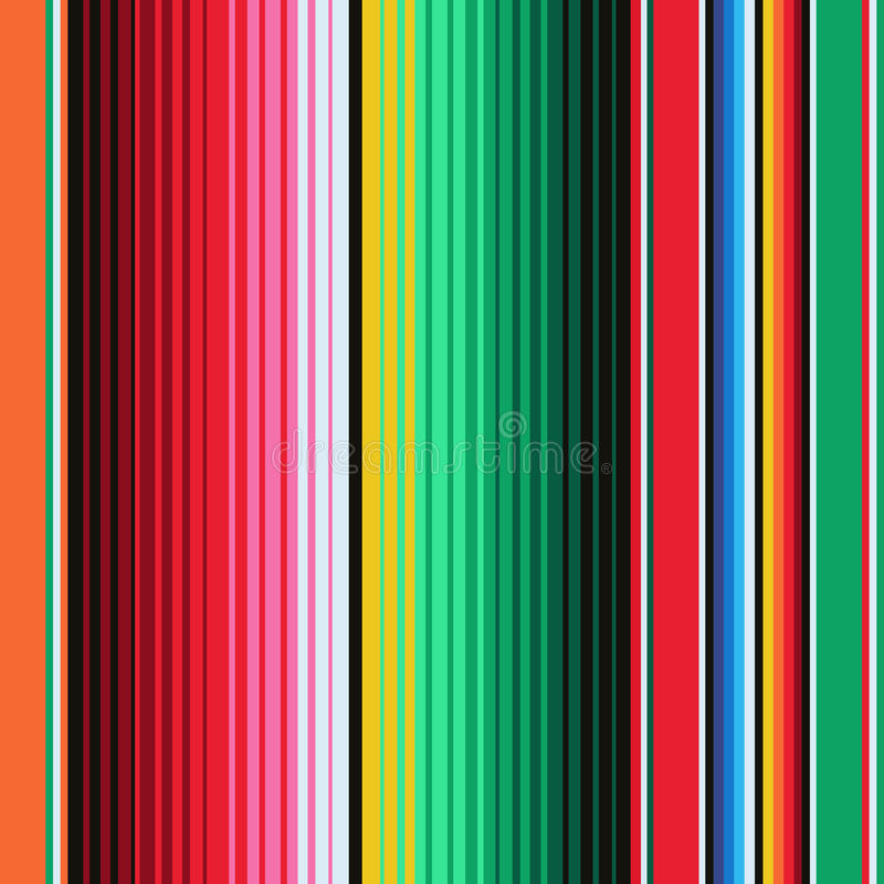 Mexican Blanket Stripes Seamless stock illustration