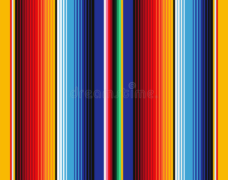 Mexican Blanket Stripes Seamless Vector Pattern stock illustration