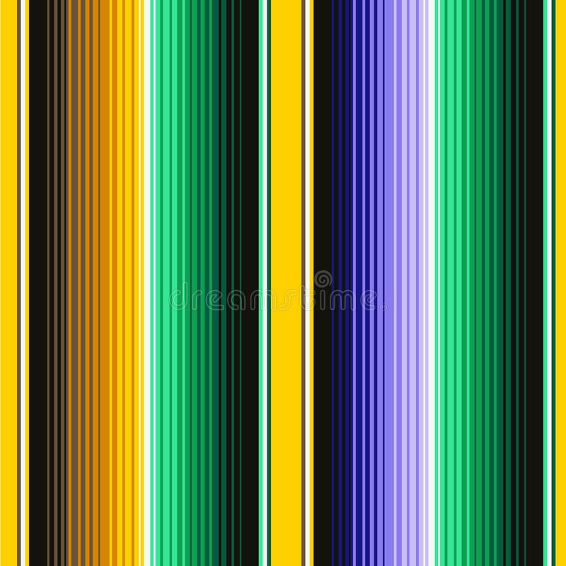 Mexican Blanket Stripes Seamless Vector Pattern. Background for Cinco de Mayo Party Decor or Mexican Food Restaurant vector illustration