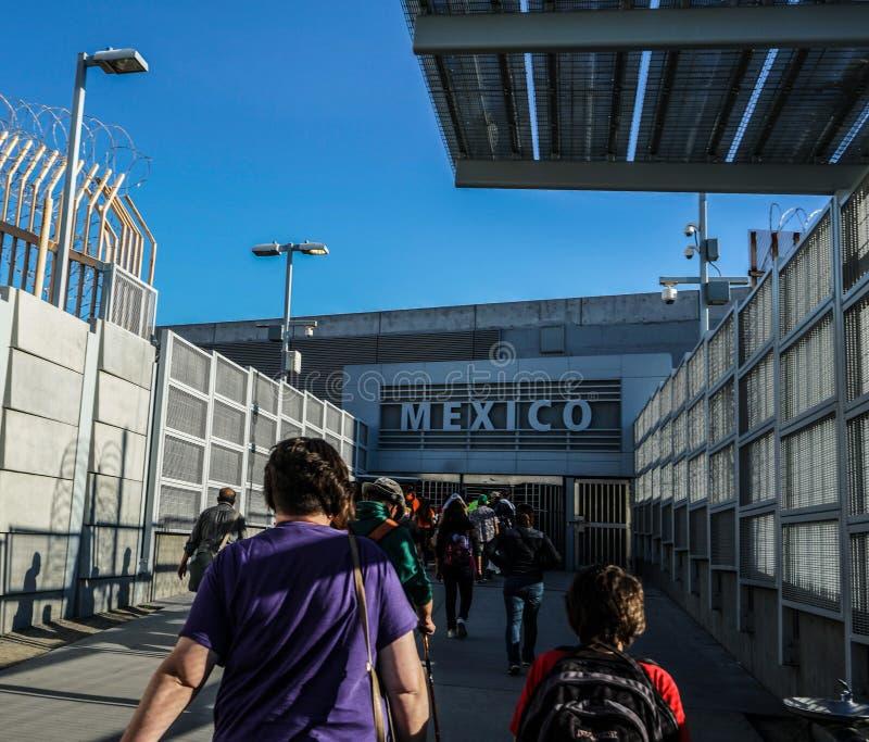 Mexican Border Crossing, San Ysidro, California, USA stock photos