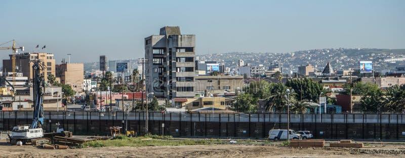 Mexican Border Wall, San Ysidro, California, USA royalty free stock photos