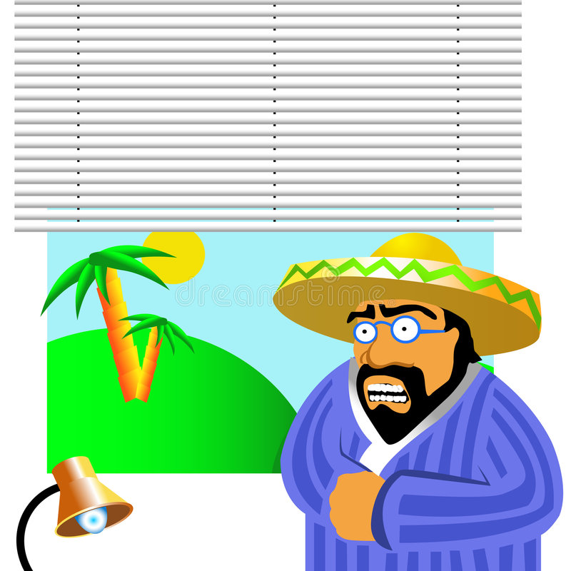 Mexican boss royalty free illustration