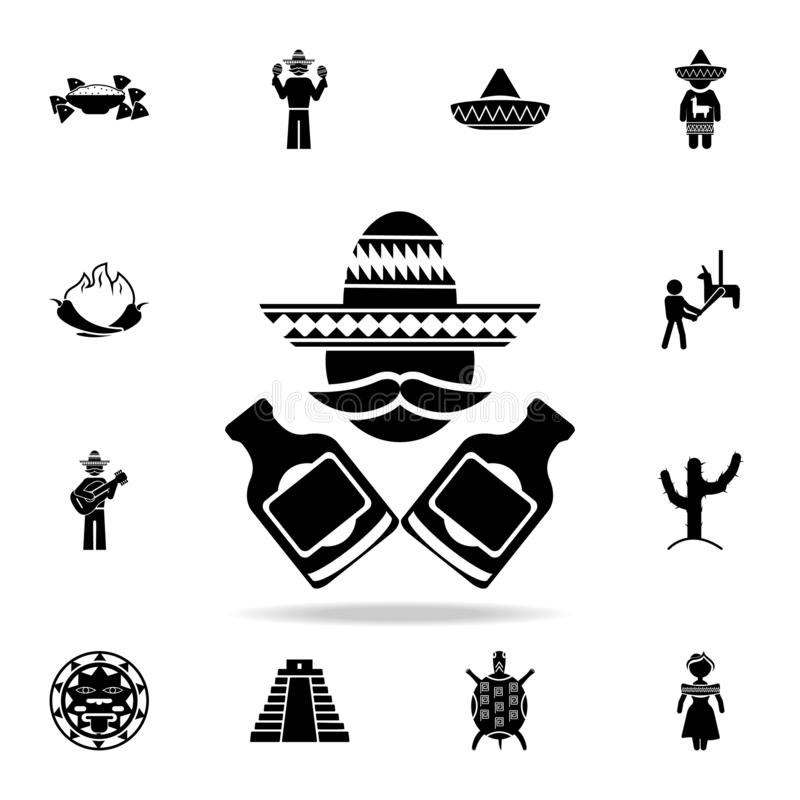 mexican with bottles icon. Detailed set of elements Mexico culture icons. Premium graphic design. One of the collection icons for royalty free illustration