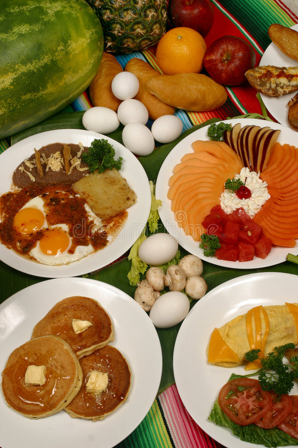 Mexican breakfast stock images