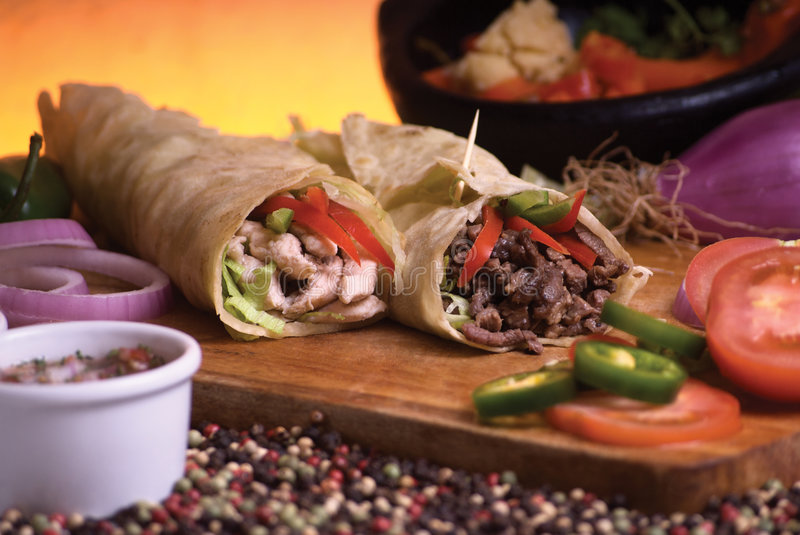 Mexican burrito stock photography