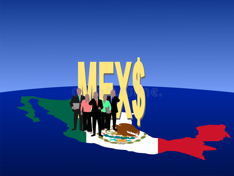 Mexican business team royalty free illustration