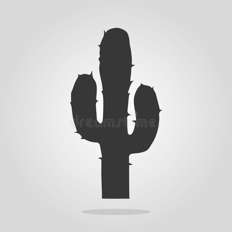 Mexican cactus icon in outline style isolated on white background. Mexico country symbol vector illustration vector illustration