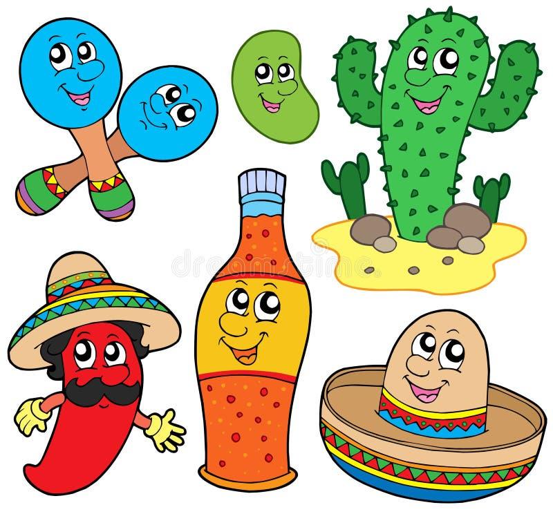 Mexican cartoon collection vector illustration