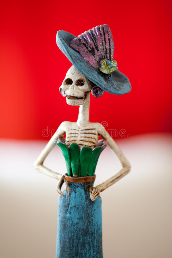 Mexican Catrina II. Day of the death. Traditional mexican catrina. Shallow depth of field royalty free stock photo