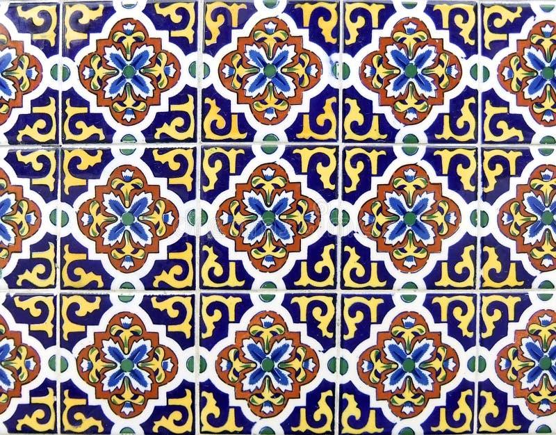 Mexican ceramic tile stock photo