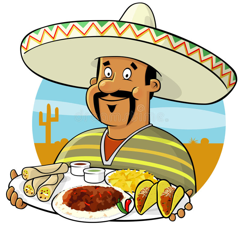 Mexican Chef royalty free illustration