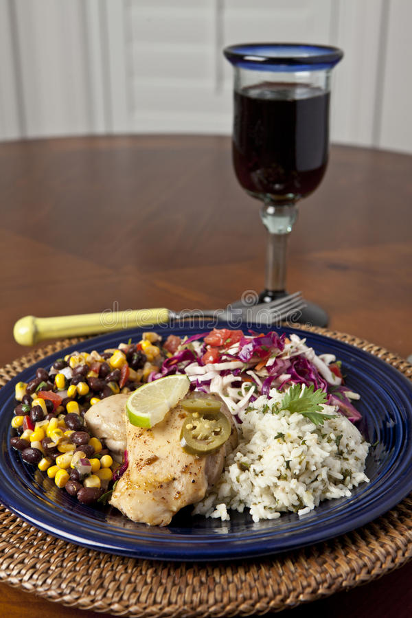Download Mexican chicken stock photo. Image of colorful, blue - 26482906