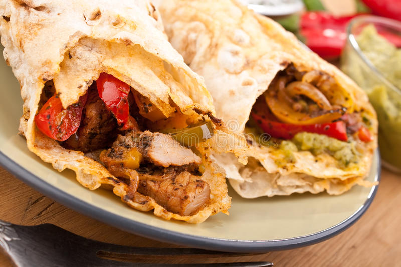 Download Mexican Chicken And Beef Fajitas Stock Photos - Image: 10817813