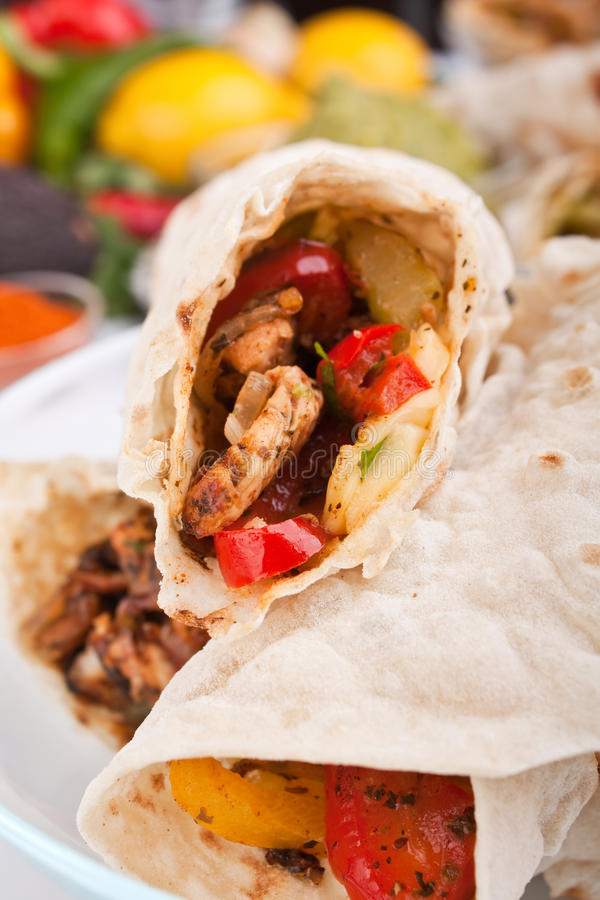 Download Mexican chicken fajitas stock image. Image of nutritious - 10817685