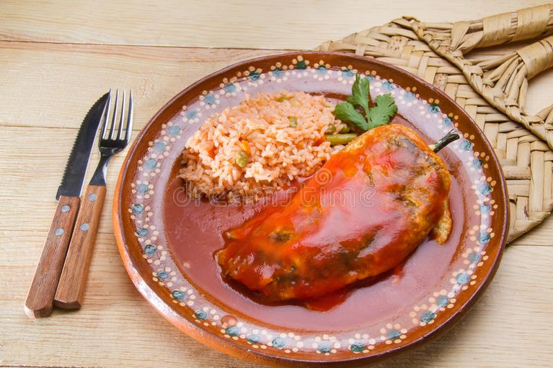 Mexican chile relleno royalty free stock photo