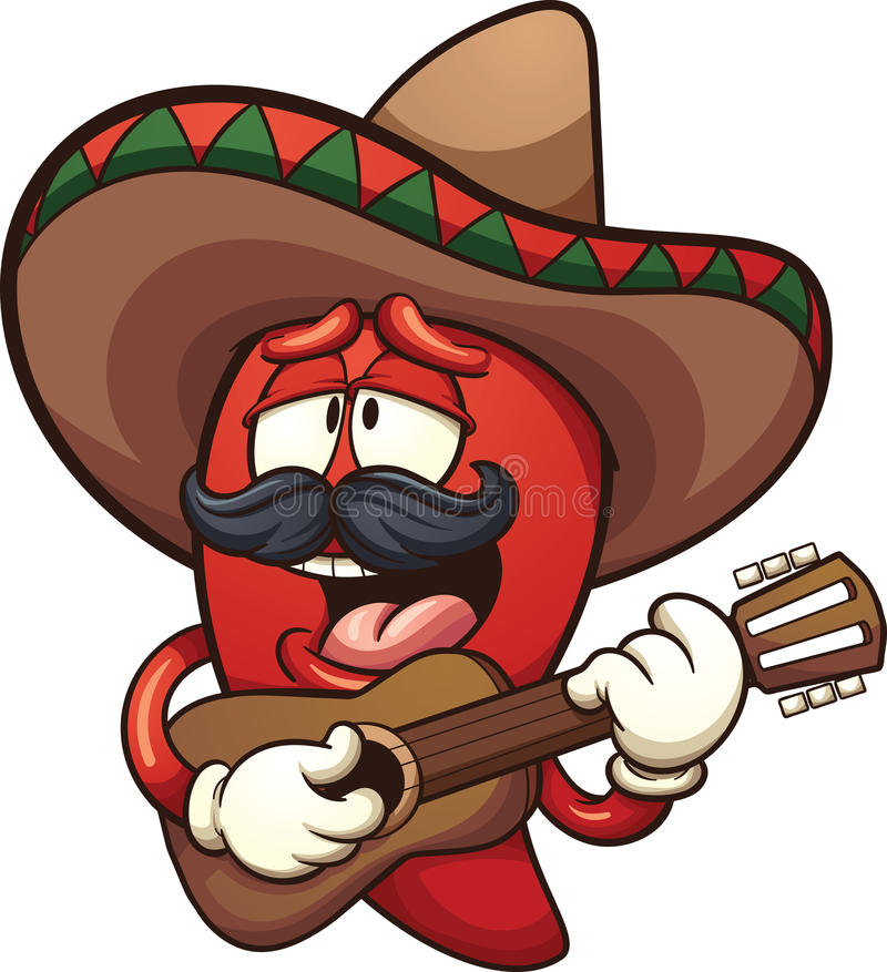 Mexican chili pepper royalty free illustration