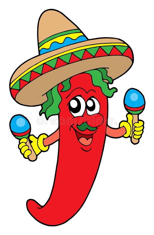 Mexican chilli musician royalty free illustration