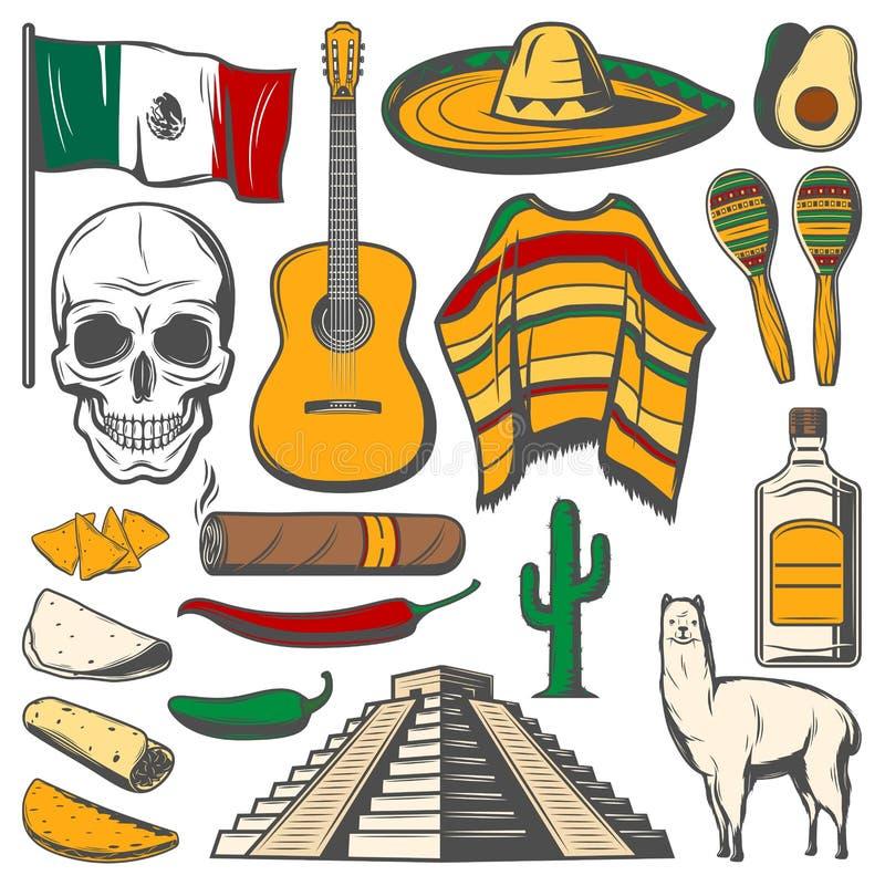 Free Mexican Cinco De Mayo Vector Fiesta Sketch Icons Stock Image - 112157541