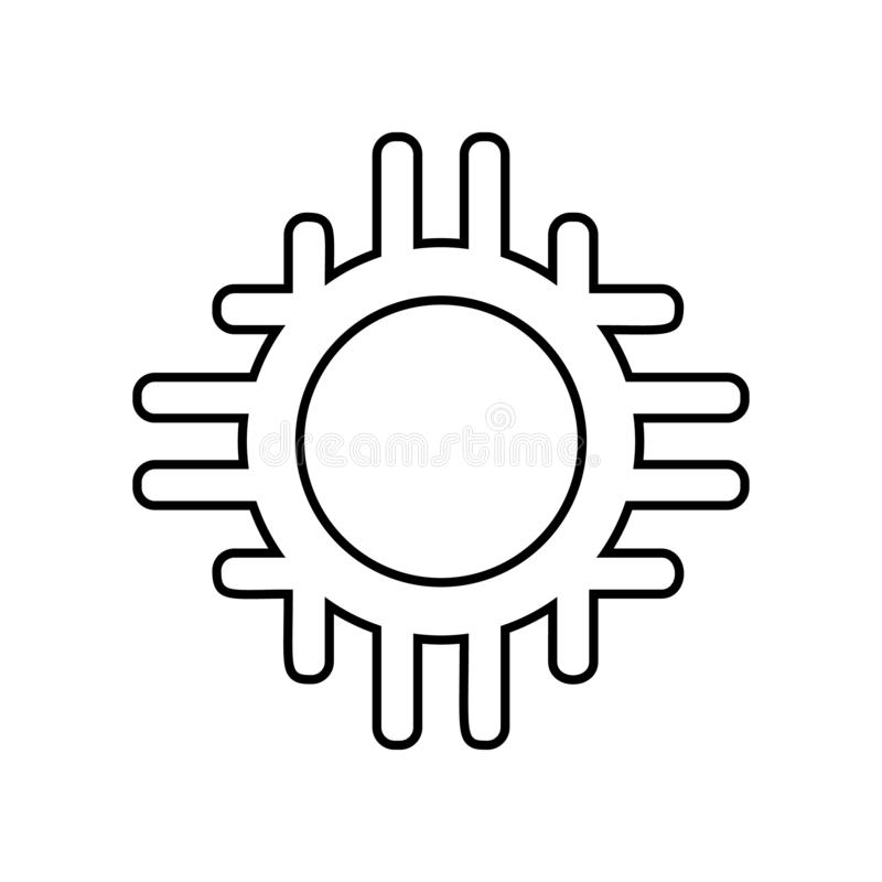 mexican circle icon. Element of Mexico for mobile concept and web apps icon. Outline, thin line icon for website design and royalty free illustration