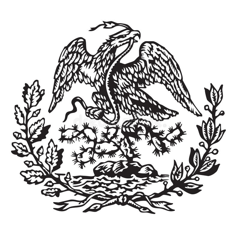 Mexican coat of arms royalty free stock photos