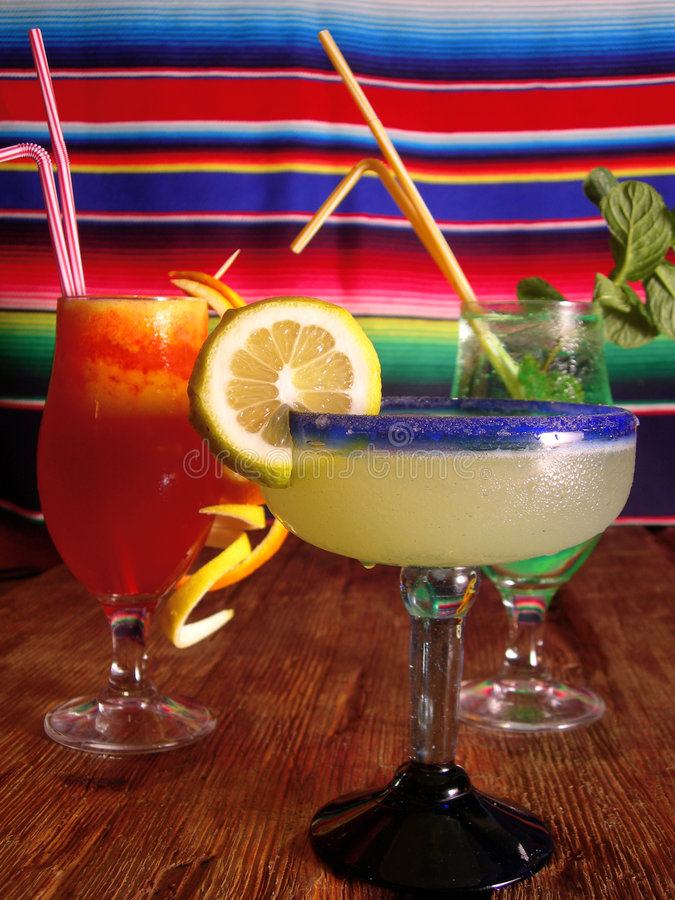Mexican cocktails stock photo