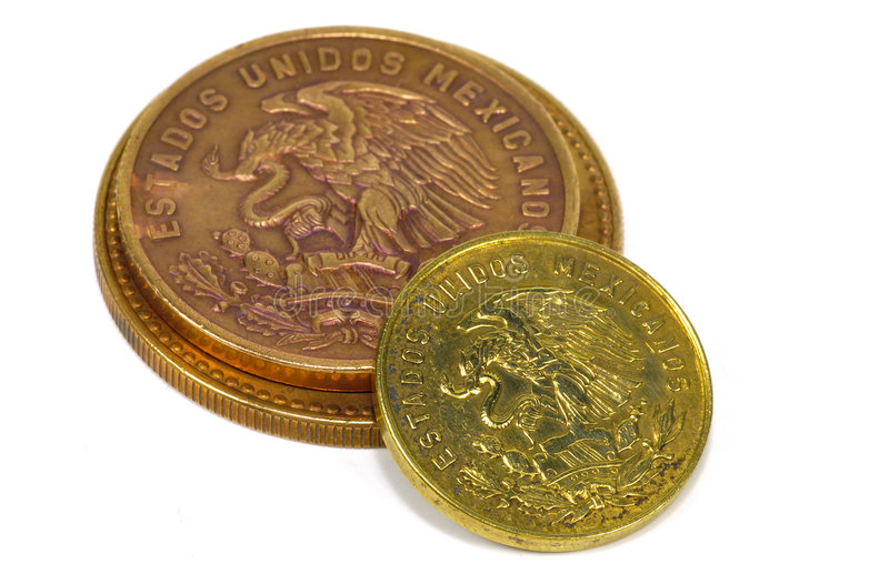 Download Mexican Coins stock image. Image of foreign, copper, currency - 101445