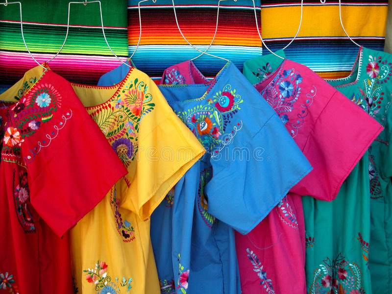 Mexican Colorful Dresses Stock Photo