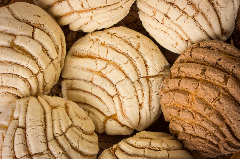 Mexican Conchas sweet bread royalty free stock images