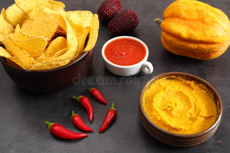 Mexican corn chips nachos royalty free stock images