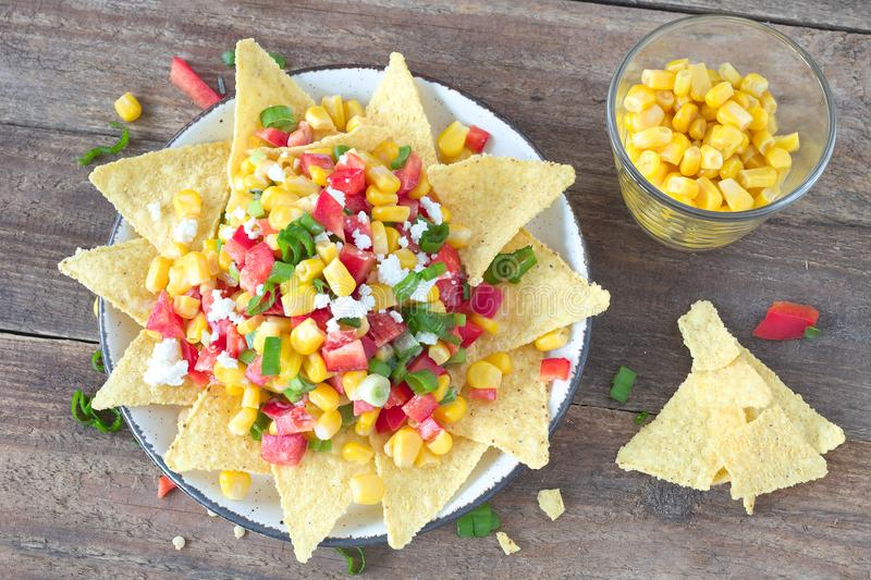 Mexican corn salad stock photo