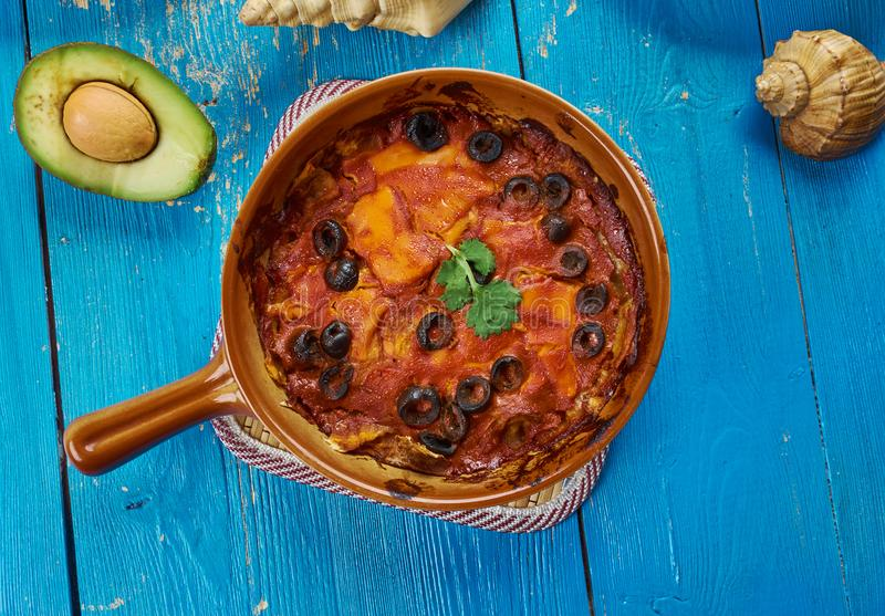 Mexican Red Chilaquiles stock photography