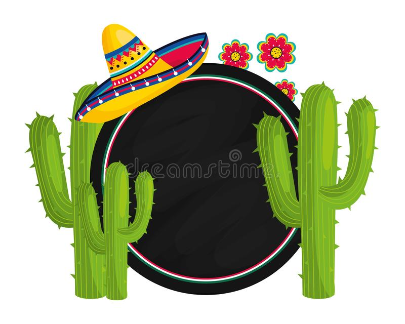 Mexican culture cartoon stock illustration