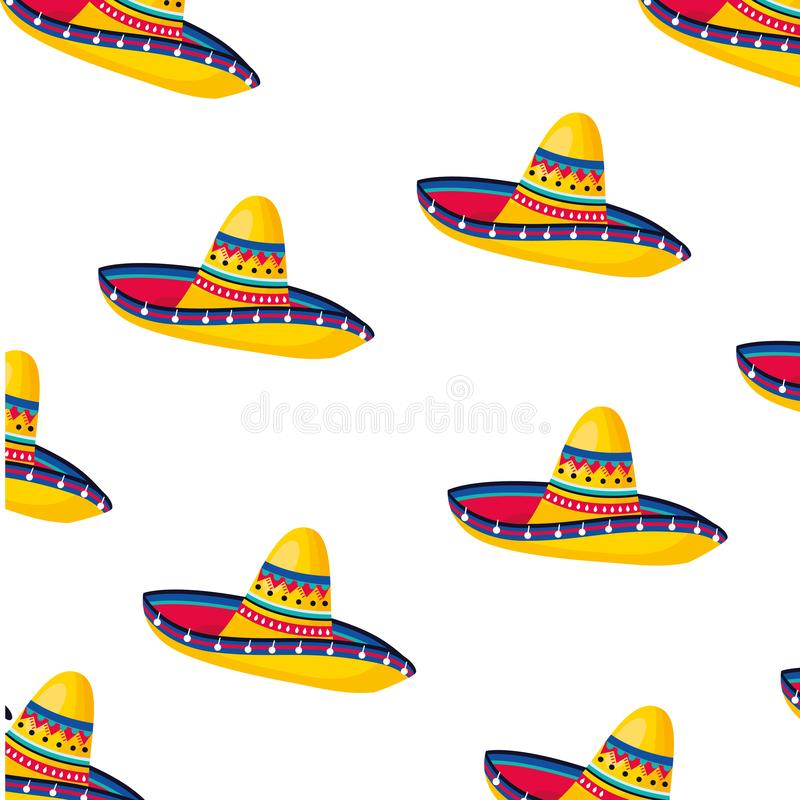 Mexican culture mexico cartoon. Mexican culture mexico mariachi hat cartoon vector illustration graphic design stock illustration