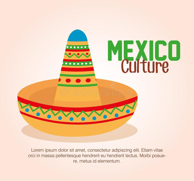 Mexican culture traditional hat. Vector illustration design vector illustration