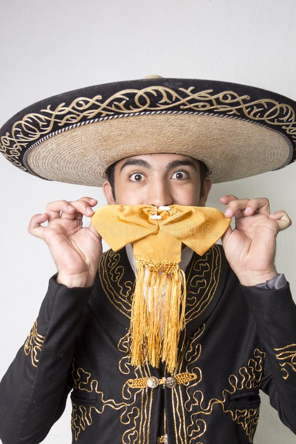 Mexican dancer in traditional costume royalty free stock photography