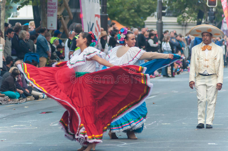 Mexican Dancers Adelaide Fringe 2017 Editorial Stock Image Download Costume
